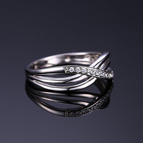 JewelryPalace Magnifique Bague Femme Infini en Argent Sterling 925 en Zircon Cubique de Synthèse CZ