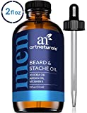 ArtNaturals Organic Beard Oil and Conditioner - (2 Fl Oz / 60ml) - 100% Pure Unscented - Beard and Mustache Growth - Softens Your Beard, Stops Itching and Treats Acne - Argan and Jojoba Oil