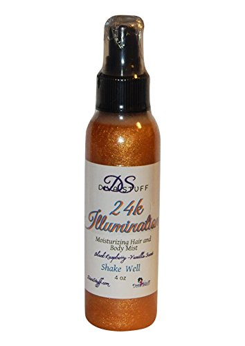 24k Shine Illuminating and Moisturizing Hair and Body Spray, Blackraspberry Vanilla Scent by Diva Stuff - Illuminating Body Moisturizer Lotion