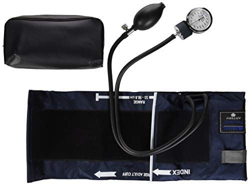 Precision Series Aneroid Sphygmomanometer - Mabis Precision Series Aneroid Sphygmomanometer Manual Blood Pressure Monitor, Cuff Size 13 to 20 inches, Large Adult