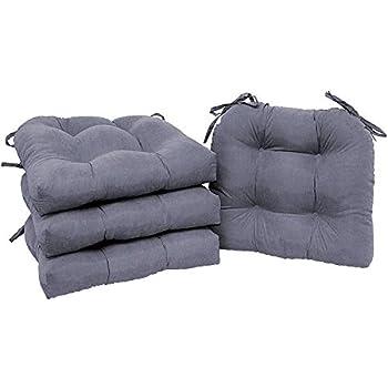 Amazon.com: Home Direct - Juego de 4 cojines para sillas de ...
