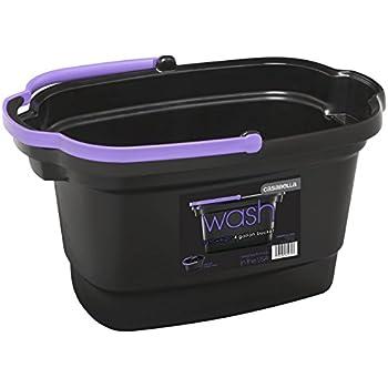 Casabella 4-Gallon Rectangular Bucket, Black
