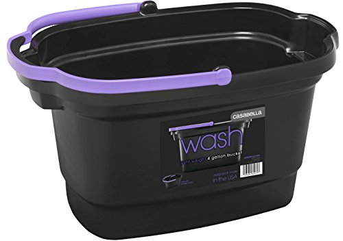 Casabella 4 Gallon Rectangular Bucket Black