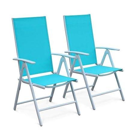 Alices Garden-Lote de 2 sillas con varias posiciones Naevia ...