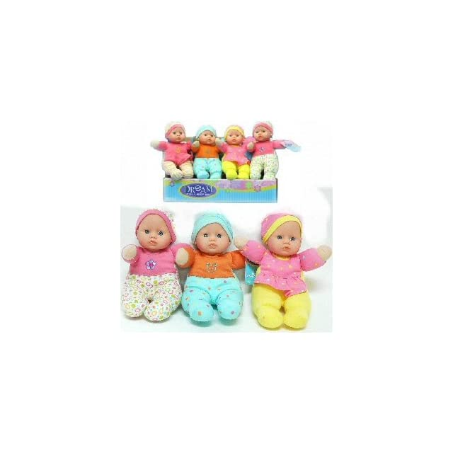 Dream Collection Soft Body Baby Doll ~ 9 Stuffed Toy ~ Assorted Color Randomly Selected