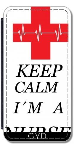 Leder Flip Case Tasche Hülle für Apple Iphone 7 Plus / 8 Plus - Krankenschwester Gesund Arzt by WonderfulDreamPicture