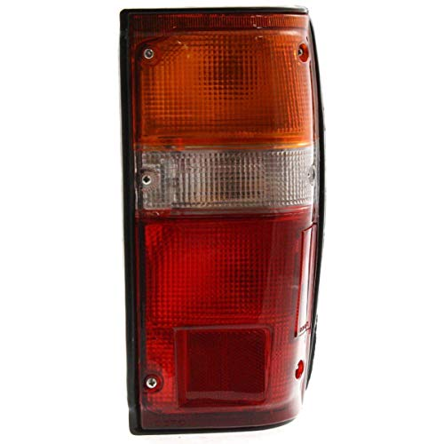 (Halogen Tail Light For 1984-1988 Toyota Pickup Right w/Black Trim/Bulb(s))