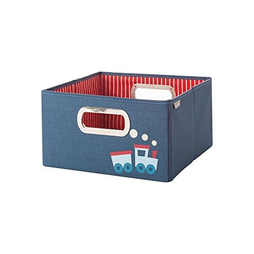JJ Cole Storage Box, Train, Short (Train Box Toy)
