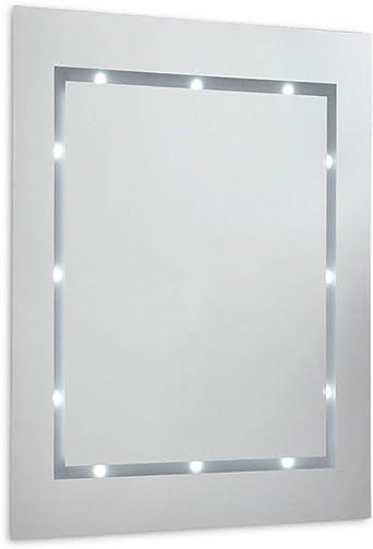 Modern Slim Led Battery Operated Illuminating Rectangular Design Bathroom Mirror Ip44 Rated Amazon Co Uk Lighting