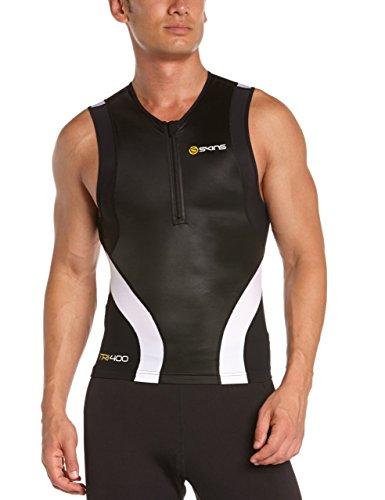 Skins Herren Sportkompressionstextilien Sportkompressionstextilien Tri 400 Mens Top Sleeveless W Zip