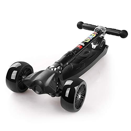 Patines del Diablo Scooter Plegable para niños de 100 kg de Capacidad, manija Ajustable, Amortiguador de Choque Kick Scooter...