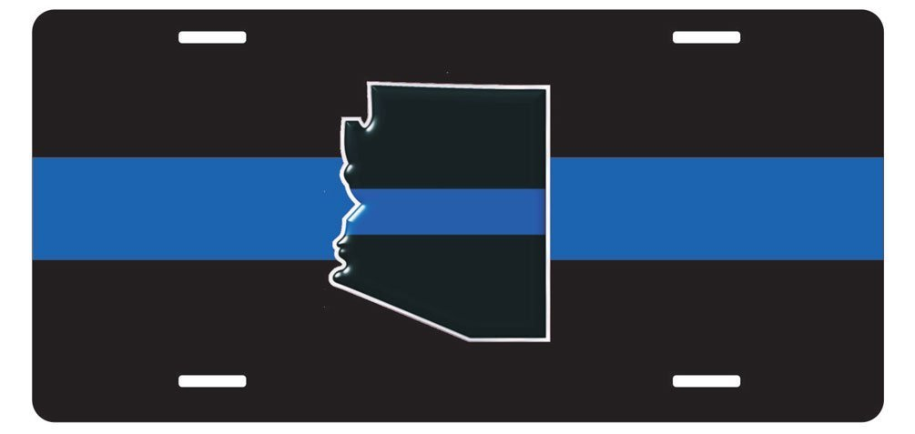Personalized Custom Thin Blue Line Arizona State License Plate 6'' x 12''metal License stainless steel License Fun License Plate Fun