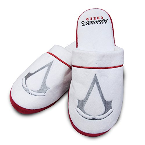 Groovy Mens Assassins Creed Adults Plush Slip On Mule Slippers Shoes from Assassin's Creed