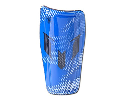 - adidas Performance Messi 10 Pro Shin Guard, Medium, Silver Metallic Grey/Shock Blue
