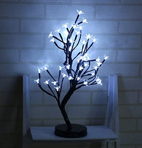 - 1 Pack Plum Blossom Flower Tree LED Night Lights Christmas Light Girls Lamp Effective Fashionable Unicorn Star Bulbs Bedroom Lamps Indoor Outdoor Holiday Decorations, Type-01