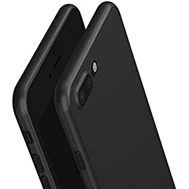 KAPA Super Thin Matte Finish [Full Coverage] Lightweight Back Case Cover for Apple iPhone 7 PLUS [5.5 ]   Black Cases   Covers