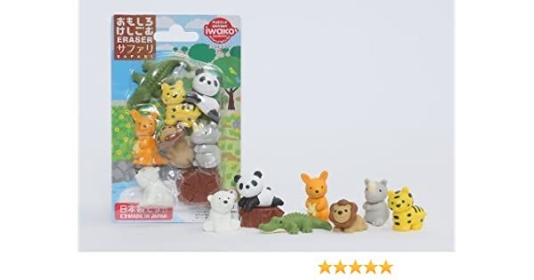Iwako Wild Safari Animales cocodrilo, fresco Panda Chill Out japonés Borradores Blister Set (NOTA: 1 SET ONLY): Amazon.es: Juguetes y juegos