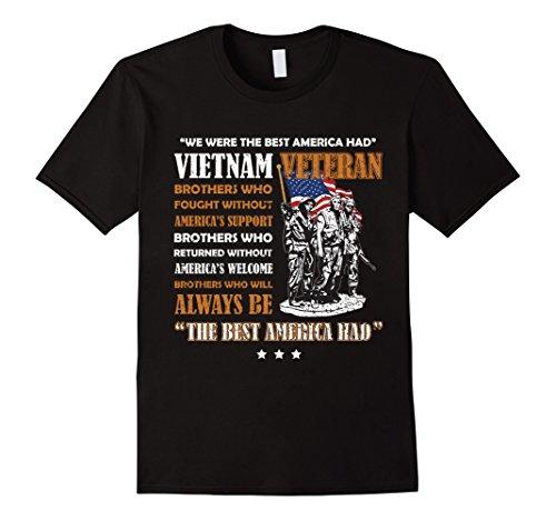 Mens Vietnam Veteran The Best America Had Proud T-shirt Medium - T Vietnam Shirt
