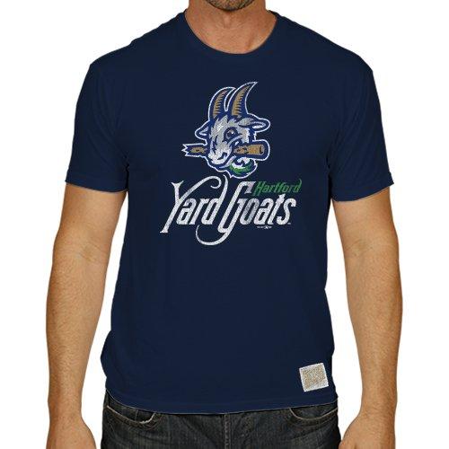 Minor League Baseball Hartford Yard Goats Men's T-Shirt, Medium, Navy