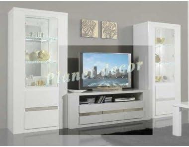 Tania Mueble para TV Plasma, lacado (blanco-metal): Amazon.es: Hogar