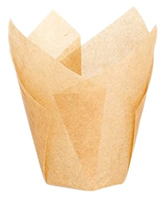 """Packnwood """"Tulips"""" Golden-Brown Silicone-Coated Baking Cup"""