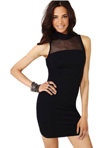 Purpura Erizo Robe Noir Transparent Sexy Pour Femmes