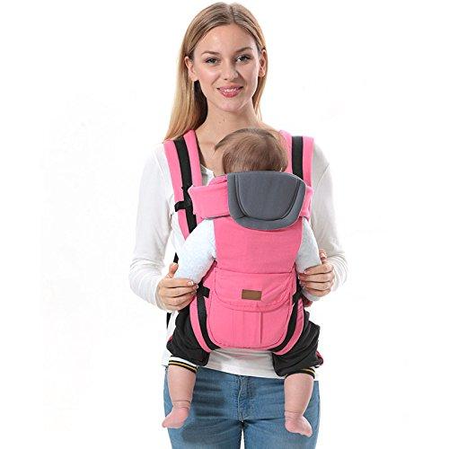 ThreeH Babytrage Sling Ergonomische Baumwoll Babytrage R/ücken 3 Tragepositionen BC08,Pink