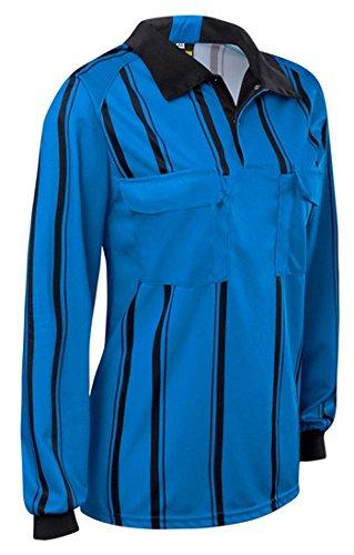 c4332d183 Amazon.com: Premium Longsleeve Soccer Referee Jersey (Blue, Adult ...