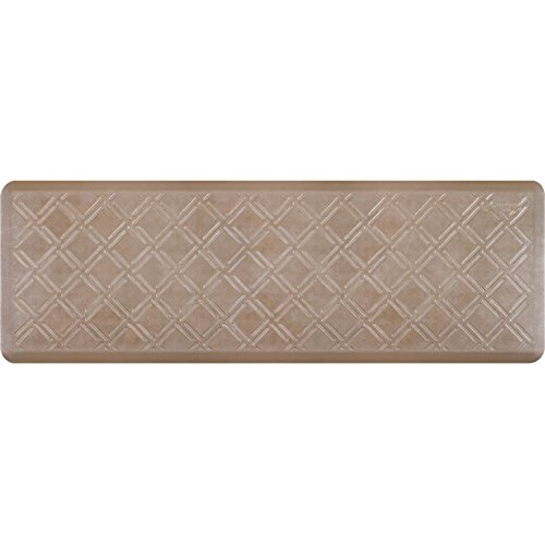 WellnessMats Estates Collection Essential Series Sandstone Moire 6 x 2 Foot Anti-Fatigue Mat