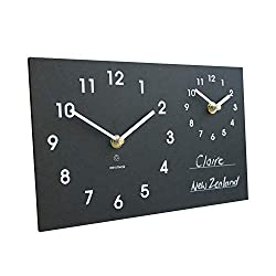 IPPINKA Recycled Dual Time Zone Clock