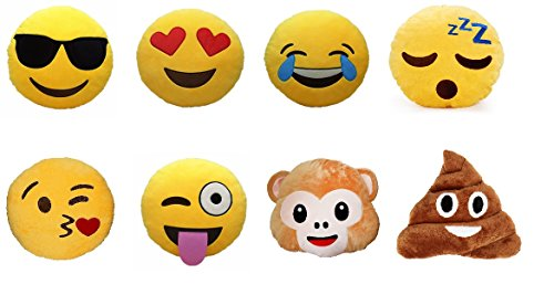 Emoji Pillows Yellow Smiley Emoticon product image