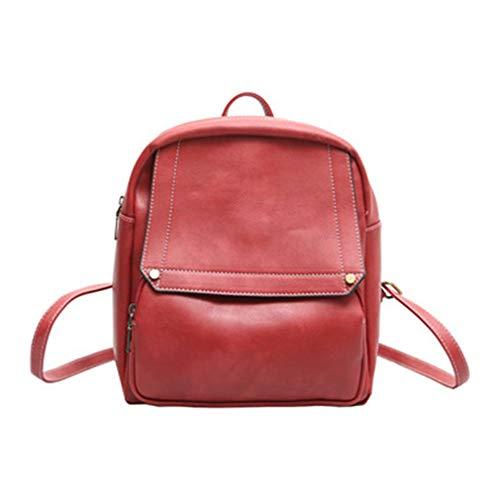 Backpacks Shoulder red Bag Schoolbags Travel Women Red 25x13x26cm qHrxHzgw