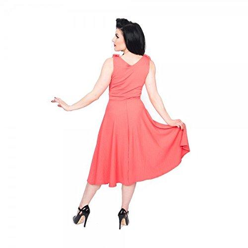 Lindy Bop - Robe - Femme Rose Corail