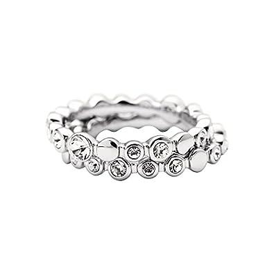 9b5747c63 DKNY Women's Ring Stainless Steel Glass Crystal Silver NJ1692040 9: Amazon. co.uk: Jewellery