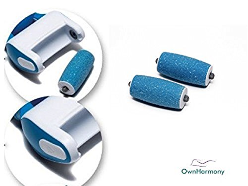 Extra Coarse 3 Refill Rollers by Own Harmony for Electric Callus Remover CR900 - Foot Care for Healthy Feet - Best Pedicure File Tools - Refills 3 Pack Extra Coarse Replacement Roller (Blue) by Own Harmony (Image #2)