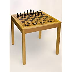 Sterling Games 3 in 1 (Chess/Checkers/Backgammon) Wooden Game Table