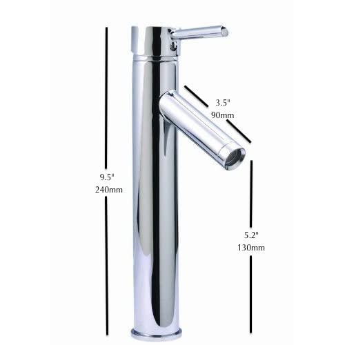 Tall Modern Contemporary Bathroom Lavatory Vanity Deck Mount Single Handle Sink Faucet 60%OFF
