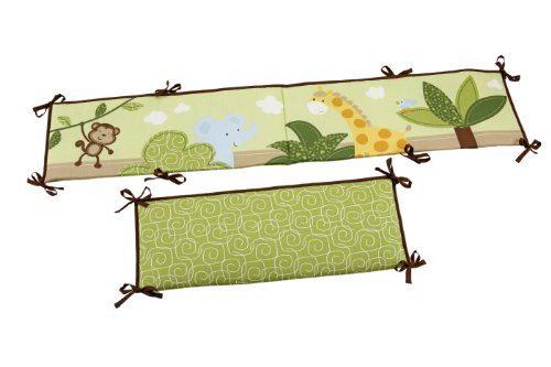 Little Bedding Traditional Padded Bumper, Jungle Time (Discontinued by Manufacturer)
