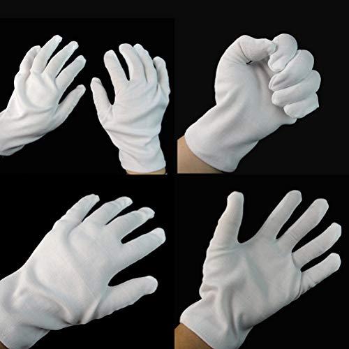 Decorative Decorative - Jetting 1 Pair White Performance Gloves Cotton Magician Costume Party Halloween Decoration - Rhinestone Professional Magic Potter Magic Magic Potter Box Harry -