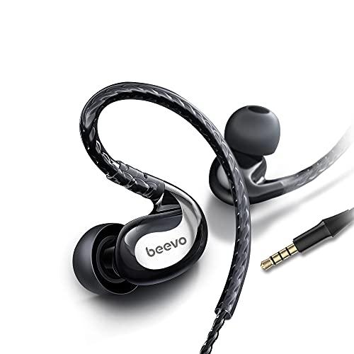 Sports Earbuds Wired with Microphone, 3.5MM Plug Jack Earphones with Over Ear Hook, in Ear Running EarHook Headphones…