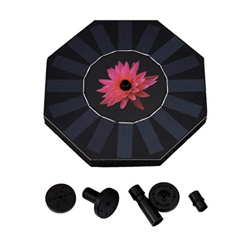 New Outdoor Solar Powered Bird Bath Water Fountain Pump For