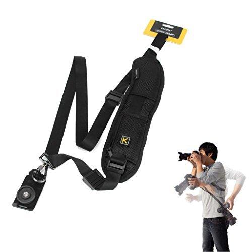 Rapide Simple Sangle d'Epaule pour Appareils Photos, Caméscopes et Jumelles DSLR/SLR Canon Nikon Sony