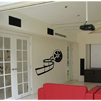 movie reel theater vinyl wall art sticker decal decor theatre cheap home thatre decor. Black Bedroom Furniture Sets. Home Design Ideas