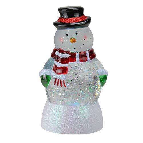 - Northlight Seasonal LED Lighted Color Changing Snowman Christmas Snow Globe Glitterdome, 7.5
