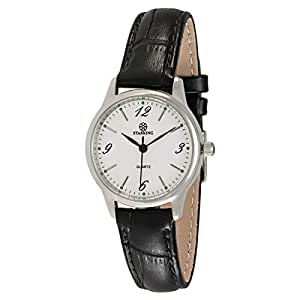 Starking Men's White Dial Leather Band Watch - BL0941SL21