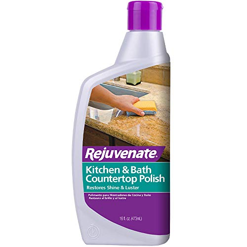 Rejuvenate Kitchen & Bathroom Countertop Polish - Brings Back Shine and Luster to All Kitchen and Bathroom Countertops in One Easy Application - 16 Ounce