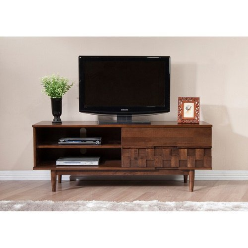 Tessuto Tobacco Finish 59-inch Entertainment Center