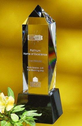 Liberty Obelisk Optical Crystal Award - Large