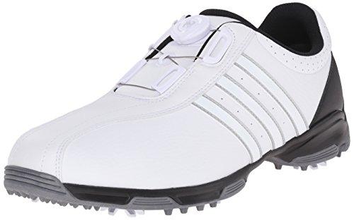 (adidas Men's 360 Traxion BOA Golf Shoe, FOOTWEAR WHITE/FOOTWEAR WHITE/CORE BLACK, 11 M US)