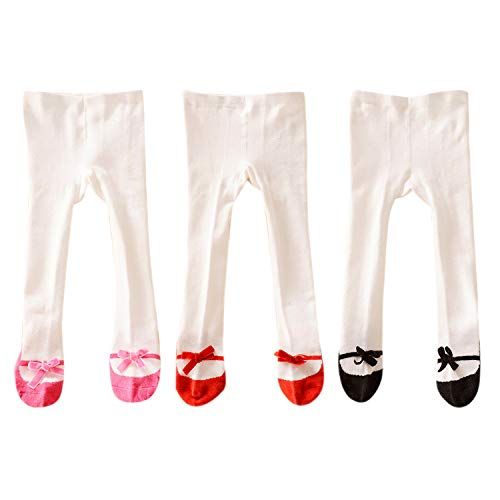 Evelin LEE 3 Packs Baby Girls Cotton Stock Legging Pants Non